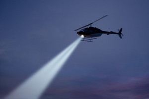 Photo of a police helicopter